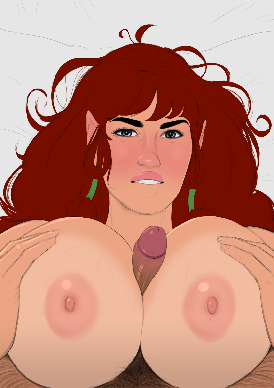 Lusty titfuck flat colours
