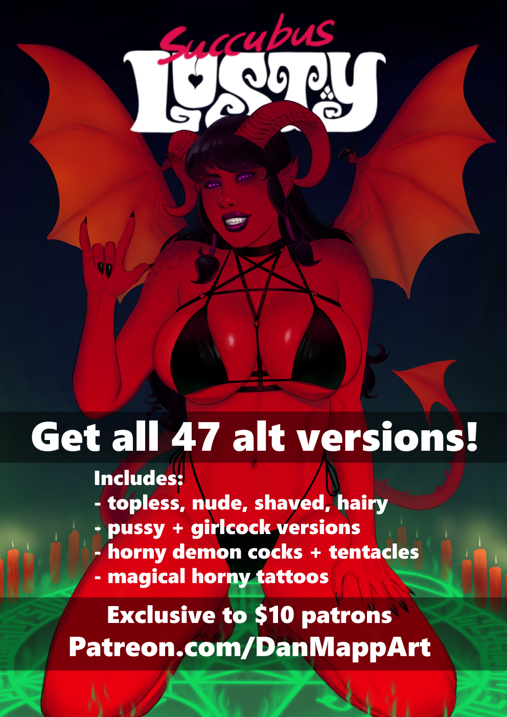 Join Patreon.com/DanMappArt for all 47 alt versions! You also get updates on Lusty Chapter 4!